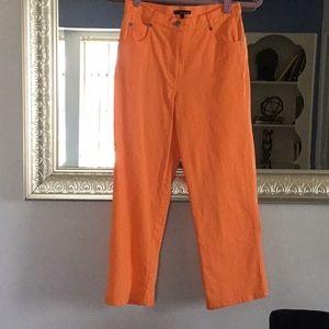 Cute orange crop pants with stretch